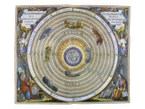 Ptolemaic View of the Universe, 1661 Giclee Print by Andreas Cellarius