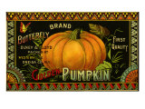 Pumpkin Label Giclee Print