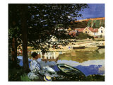 On the Seine at Bennecourt, 1868 Giclee Print by Claude Monet