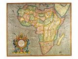 Map of Africa 1633 Giclee Print by Gerardus Mercator