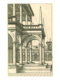 Courtyard, Gallery View, 1751 Giclee Print by Henricus Hondius