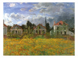 Houses in Countryside, 1873 Giclee Print by Claude Monet