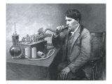 Thomas Edison and Phonograph, 1888 Giclee Print
