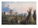 Sioux at Ft. Laramie, 1837 Giclee Print by Alfred Jacob Miller