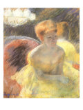 Lydia Leaning on Her Arms, Seated in a Loge, 1879 Giclee Print by Mary Cassatt