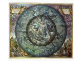 The Northern Sky, 1661 Giclee Print by Andreas Cellarius