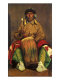 Portrait of Dieguito Roybal of San Ildefonso, 1916 Giclee Print by Robert Henri