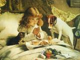 Suspense, 1894 Giclée-tryk af Charles Burton Barber