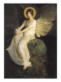 Winged Figure Seated Upon a Rock, 1900 Giclee Print by Abbott Handerson Thayer