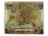 Karte von Amsterdam 1633 Giclée-Druck von Gerardus Mercator