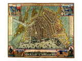 Map of Amsterdam 1633 Giclee Print by Gerardus Mercator