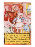 Three Little Pigs Giclee Print