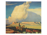 Open Range, 1942 Giclee Print by Maynard Dixon