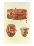 Types of Indian Drums, 1888 Giclee Print by William Gibb