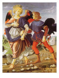 Tobias and the Angel Gicle-tryk af Andrea del Verrocchio