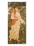 Flora, the Goddess of Blossoms, 1880 Giclee Print by Evelyn De Morgan