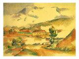 Mont Sainte-Victoire, 1887 Giclee Print by Paul Cézanne