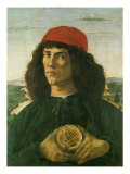 Portrait of a Young Man with a Medal, 1475 Giclee Print by Sandro Botticelli