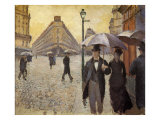 Sketch for Paris Street; Rainy Day, 1877 Giclee Print by Gustave Caillebotte