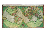 Old World Map 1587 Giclee Print