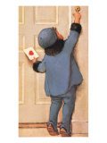 Girl Reaching for Bell Giclee Print by Jessie Willcox-Smith