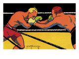 Boxing Match, 1924 Giclee Print