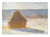 Haystack in Winter, 1891 Giclee Print by Claude Monet