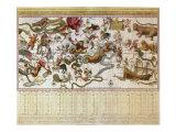 Backer's Star Chart, 1709 Giclée-Druck von Johannes Van Keulen