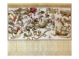 Backer&#39;s Star Chart, 1709 Giclee Print by Johannes Van Keulen
