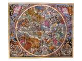 Celestial Chart, 1661 Giclee Print