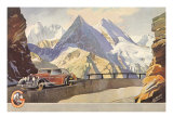 Car, Mountain Highway Giclee Print