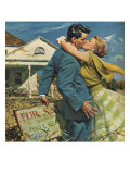 Woman Kissing Man, 1955 Giclee Print