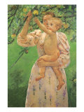 Picking an Apple, 1893 Giclee Print by Mary Cassatt