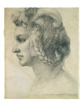 Ideal Head of a Woman, 1526 Giclee Print by  Michelangelo Buonarroti