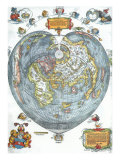 Heart-Shaped World Map 1530 Giclee Print