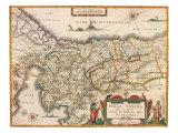Map of Palestine 1629 Giclee Print by Jodocus Hondius