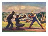 Baseball Game, 1947 Giclee Print by James Chapin