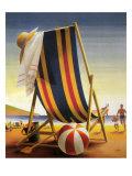 Summer Beach Scene Giclee Print