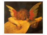 Angel Playing Lute Giclee Print