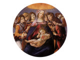 Madonna and Child with Angels, 1487 Giclee Print by Sandro Botticelli