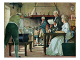 Antoine Lavoisier's Experiment on the Reconstruction of Water in 1790, c. 1860, Giclee Print