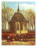 Chapel and Churchgoers, 1884 Giclee Print by Vincent van Gogh