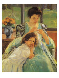 Young Mother Sewing, 1900 Giclee Print by Mary Cassatt