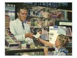 Pharmacist at Counter, 1946 Giclee Print