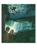 Couple at Niagara Falls, 1946 Giclee Print