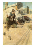 Sitting Up Cross-Legged, 1906 Giclee Print by Newell Convers Wyeth
