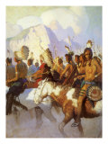 An Indian War Party, 1925 Giclee Print by Newell Convers Wyeth