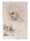 Apostle and Towers Giclee Print by  Leonardo da Vinci