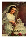 Bride and Cake, 1946 Giclee Print