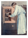 Scientist in Lab, 1912 Giclee Print by Norman Price